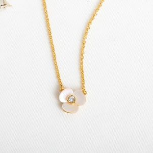 Kate Spade Disco Pansy Mini Pendant Necklace